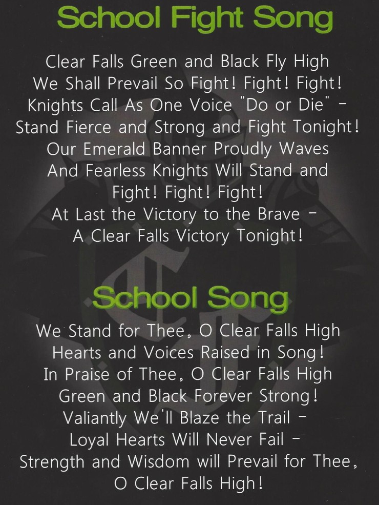 Fight song and school song words